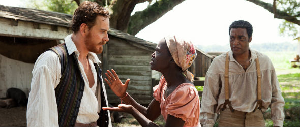 Chiwetel Ejiofor, Lupita Nyong'o & Michael Fassbender (v. r.) in 12 Years A Slave